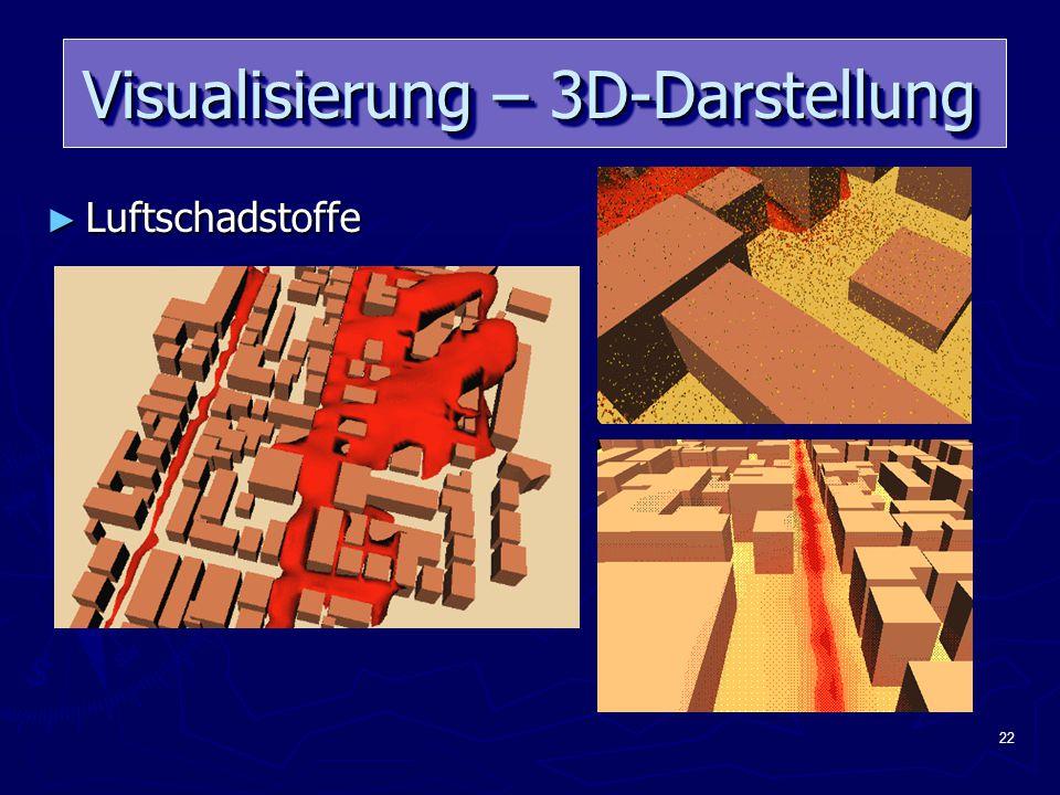 22 Visualisierung – 3D-Darstellung ► Luftschadstoffe
