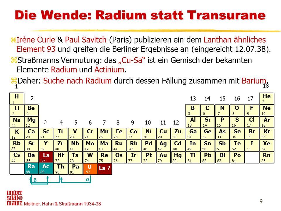 Meitner, Hahn & Straßmann 1934-38 10 Aus O.Hahns Taschenkalender 21.10.38 Aus O.
