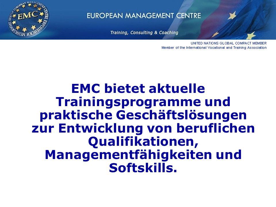 EMC bietet aktuelle Trainingsprogramme und praktische Geschäftslösungen zur Entwicklung von beruflichen Qualifikationen, Managementfähigkeiten und Softskills.