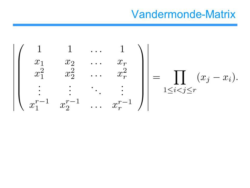 Vandermonde-Matrix