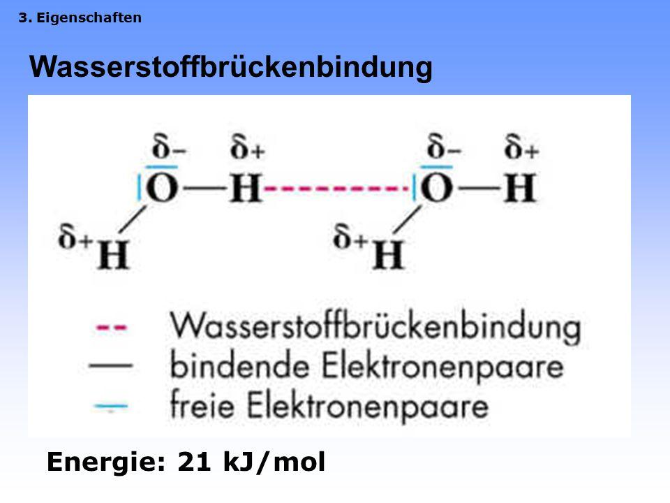 3. Eigenschaften 3.1 Allgemeine Eigenschaften –Schmelz- und Siedepunktsanomalie (0°C/100°C)