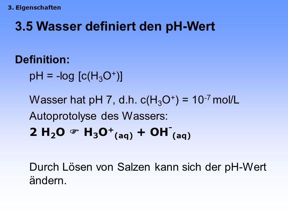 3.4 Leitfähigkeit Durch Elektrolyte, hier die gelösten Ionen Träger des elektrischen Stroms: Ionen –Kationen zur Kathode (negativ) –Anionen zur Anode