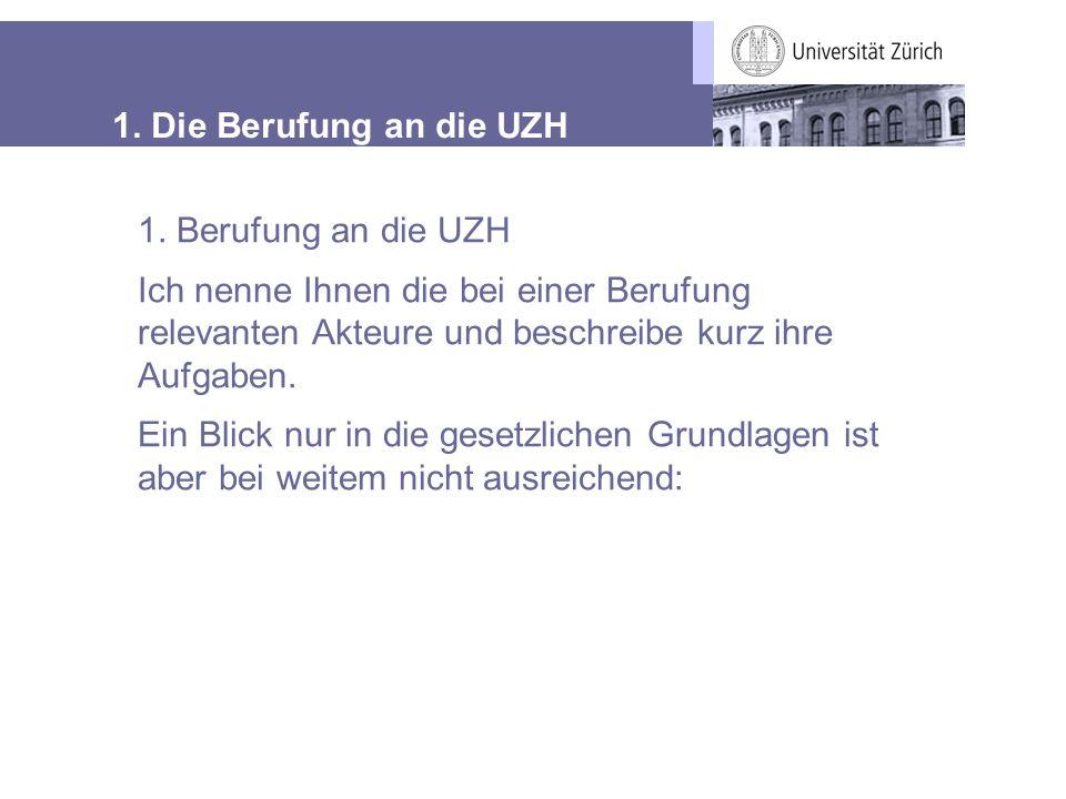 1.Die Berufung an die UZH Aufgaben Anträge an UL und UR.