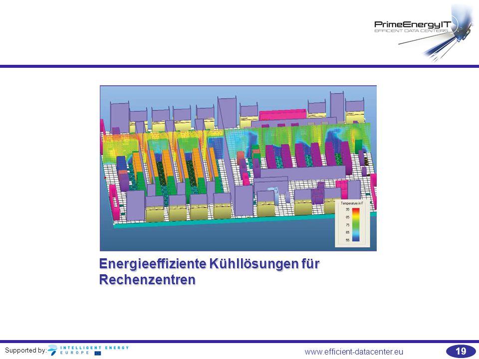 Supported by: 19 www.efficient-datacenter.eu Energieeffiziente Kühllösungen für Rechenzentren