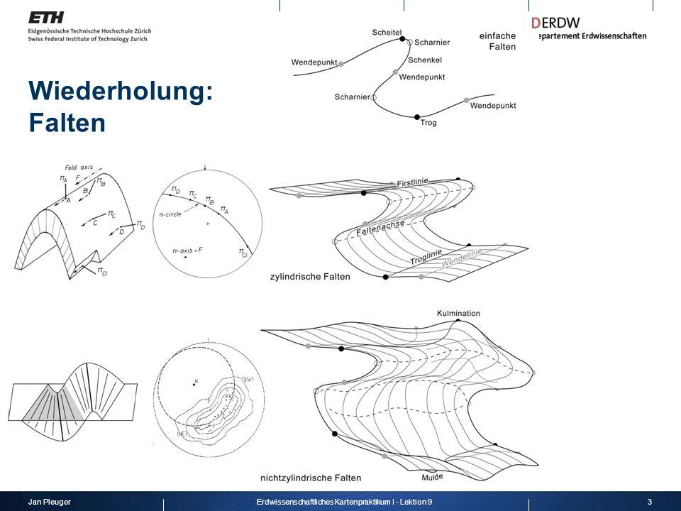 Jan Pleuger3Erdwissenschaftliches Kartenpraktikum I - Lektion 9 Wiederholung: Falten