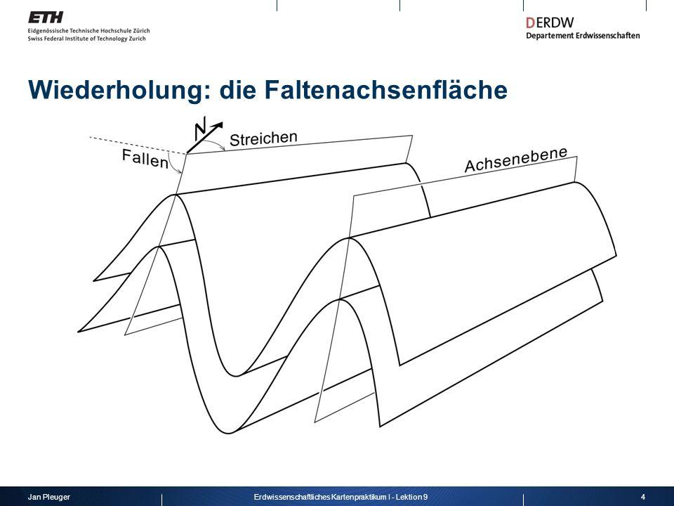 Jan Pleuger4Erdwissenschaftliches Kartenpraktikum I - Lektion 9 Wiederholung: die Faltenachsenfläche
