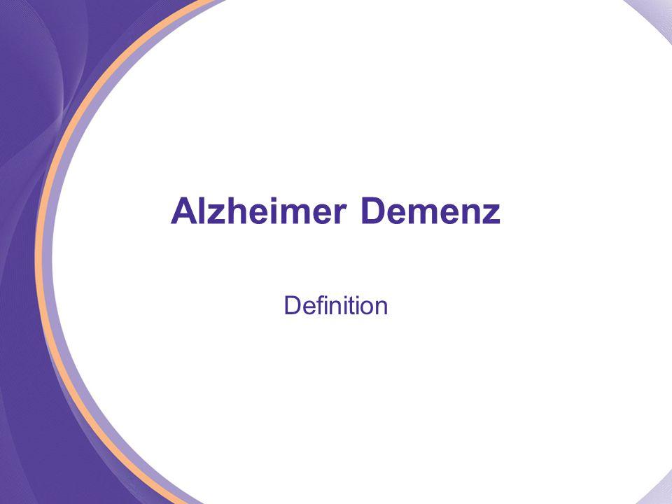 Alzheimer Demenz Definition