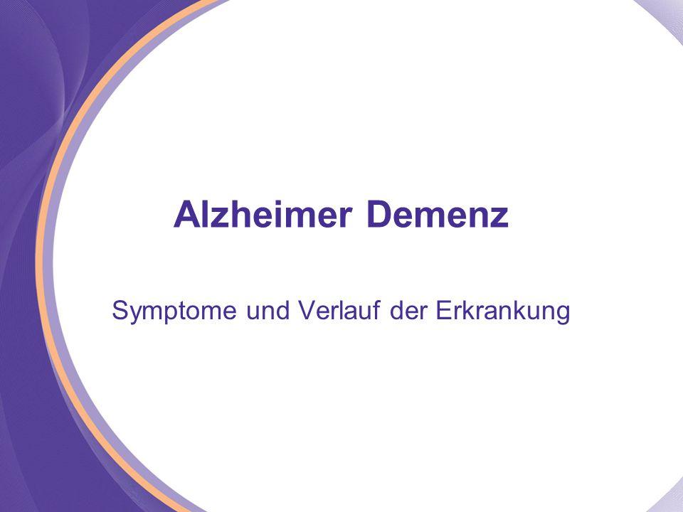 Alzheimer Demenz Symptome und Verlauf der Erkrankung