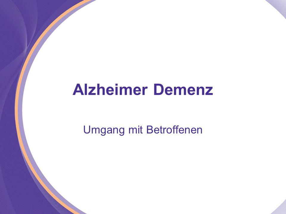 Alzheimer Demenz Umgang mit Betroffenen