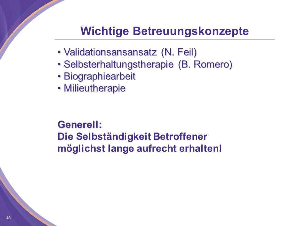 - 48 - Validationsansansatz (N.Feil) Validationsansansatz (N.