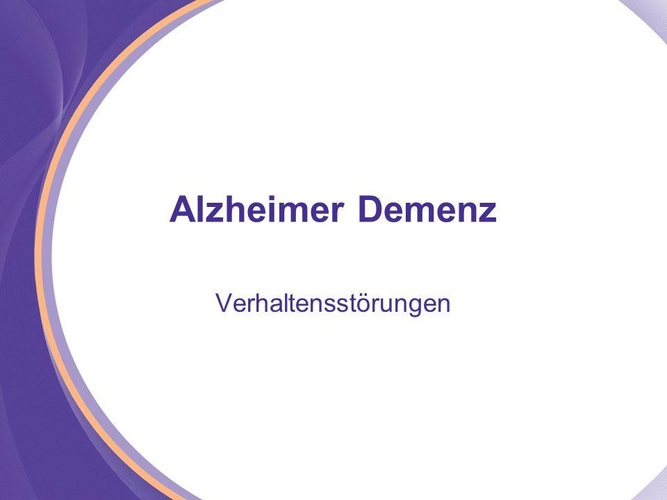 Alzheimer Demenz Verhaltensstörungen
