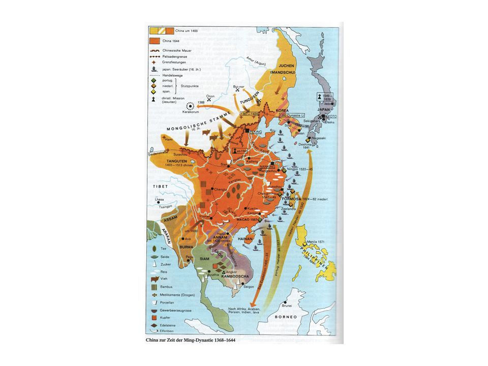Kolonialisierungsschritte  Hokkaidô: ab 1869 (Ezo, Ainu)  1894 Japanisch-Chinesischer Krieg  Taiwan: 1895  1904/05 Japanisch-Russischer Krieg  Korea: 1906 Protektorat, 1910 Annektierung