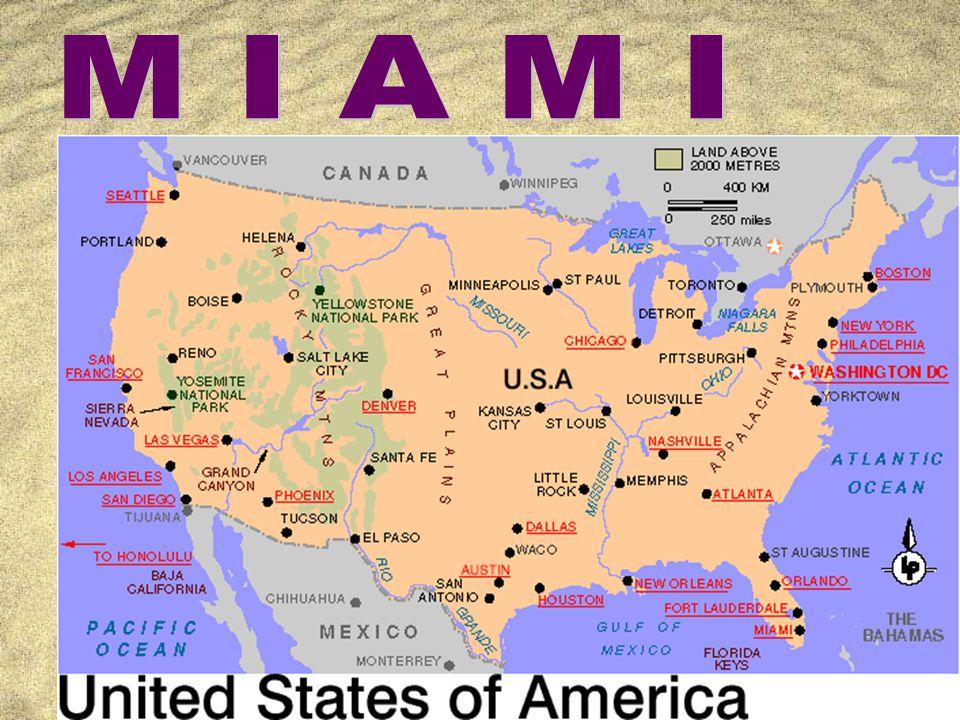 Martina Kitz Ü B E R S I C H T Z Lage Z Miami allgemein Z Geschichte Z Einwohner (Abstammung) Z Klima Z Touristische Attraktionen Z Medien Z Impressionen