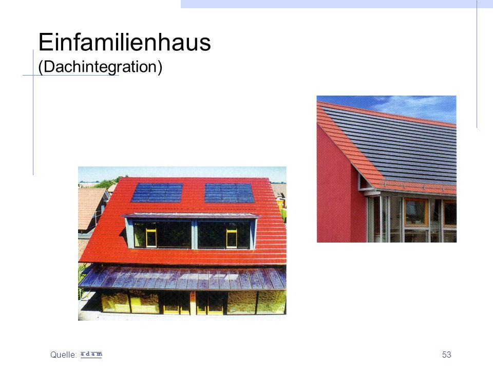 53 Einfamilienhaus (Dachintegration) Quelle: a d a m