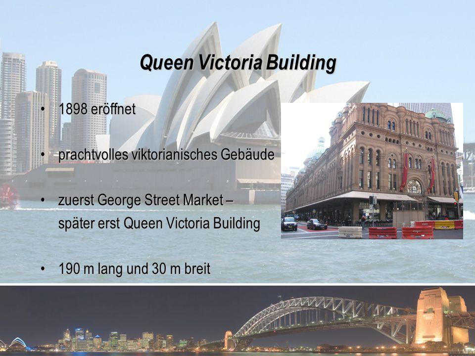 Queen Victoria Building 1898 eröffnet1898 eröffnet prachtvolles viktorianisches Gebäudeprachtvolles viktorianisches Gebäude zuerst George Street Marke