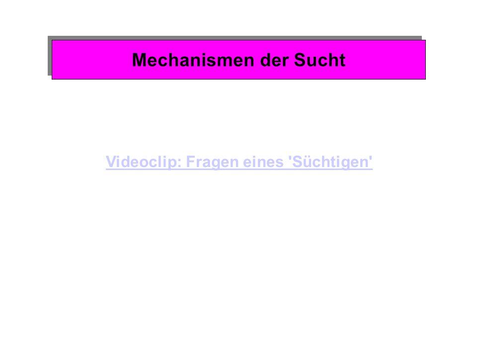 Mechanismen der Sucht Unlustvermeidung und Sucht Spezifisches Wirkungsprofil: z.B.