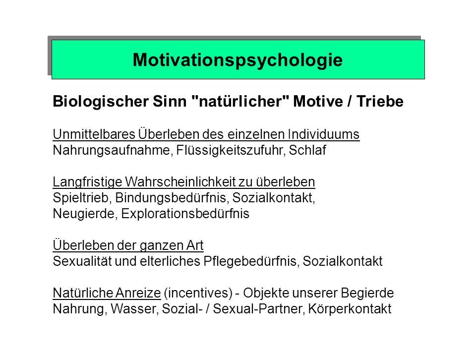 Psychologie der Sucht Motivationspsychologie Emotionspsychologie Lernpsychologie Persönlichkeitspsychologie Neurowissenschaften - Gehirnforschung