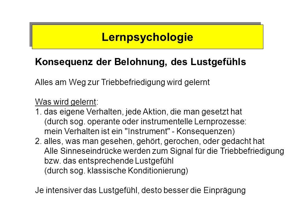 Motivationspsychologie Mechanismen der Bedürfnisbefriedigung 1. Regelsystem (Energiehaushalt) Sollwert - Energie-Defizit - Alarmsignal 2. Konsequenzen