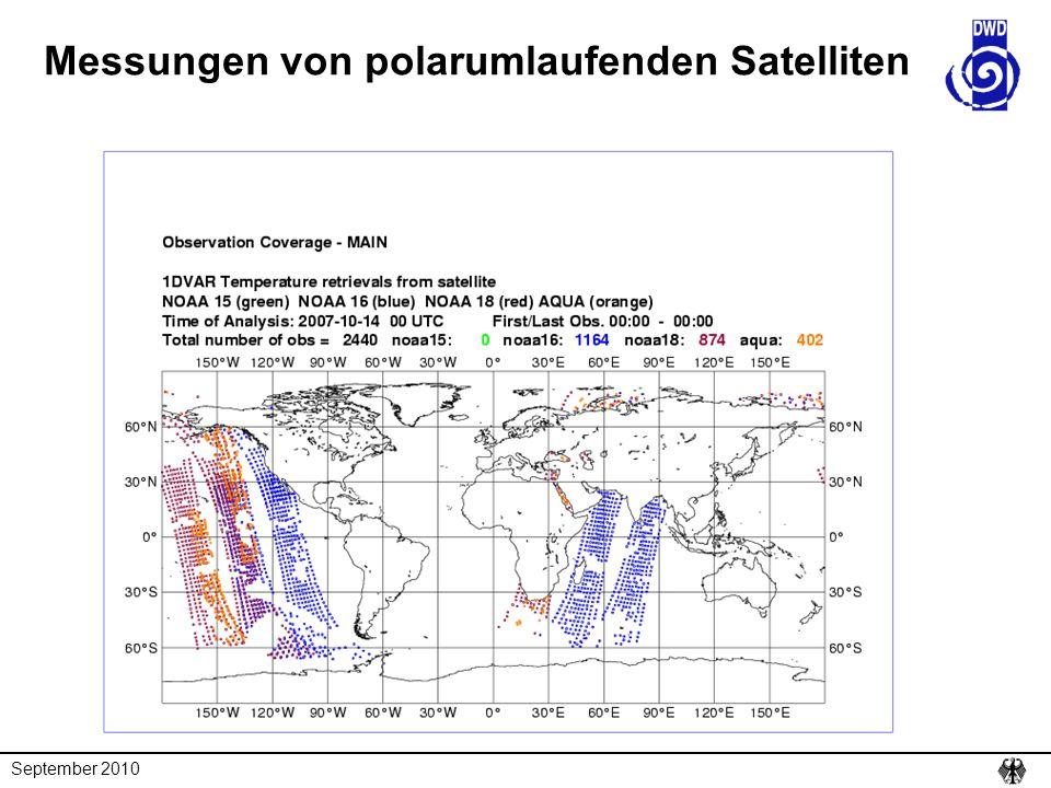 September 2010 Messungen von polarumlaufenden Satelliten