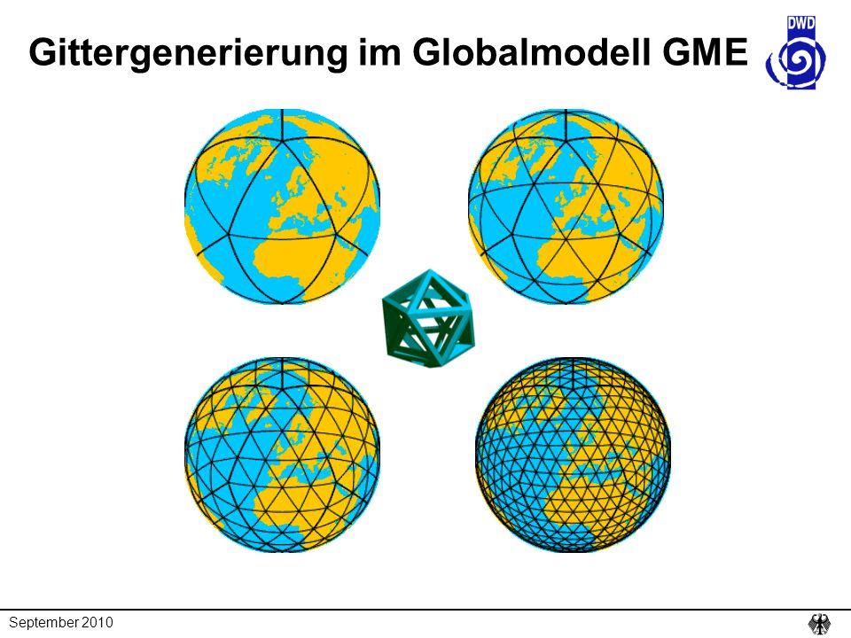 September 2010 Gittergenerierung im Globalmodell GME