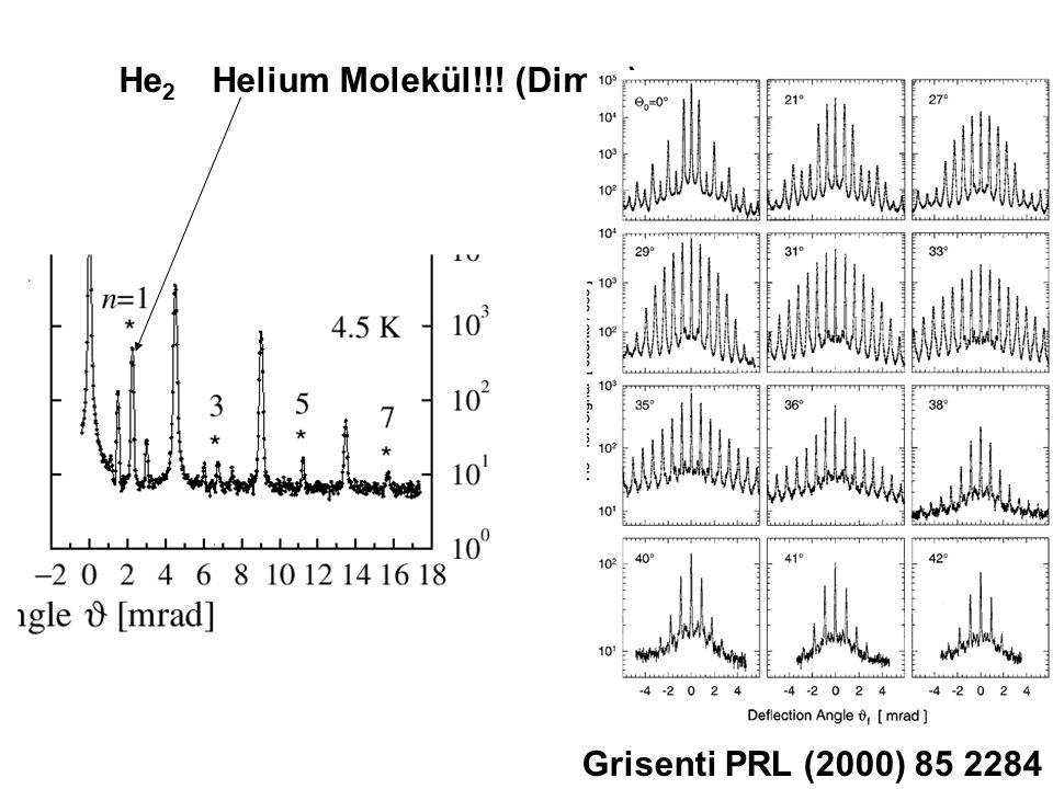 He 2 Helium Molekül!!! (Dimer) Grisenti PRL (2000) 85 2284