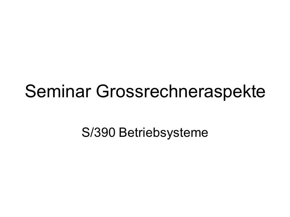 Seminar Grossrechneraspekte S/390 Betriebsysteme