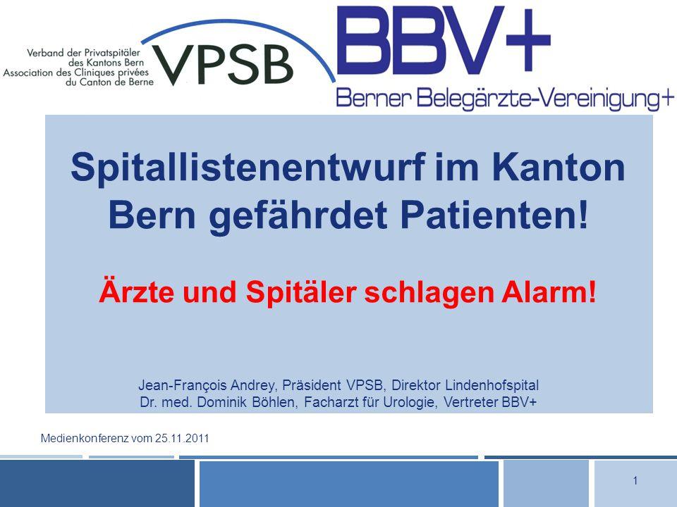 Spitallistenentwurf im Kanton Bern gefährdet Patienten.