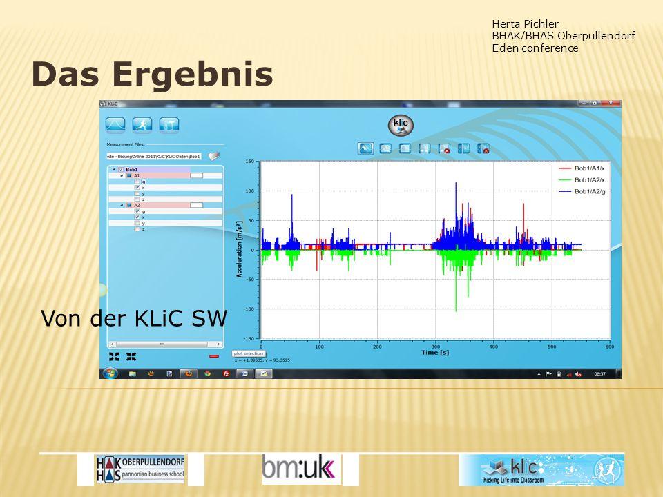 Herta Pichler BHAK/BHAS Oberpullendorf Eden conference Das Ergebnis Von der KLiC SW