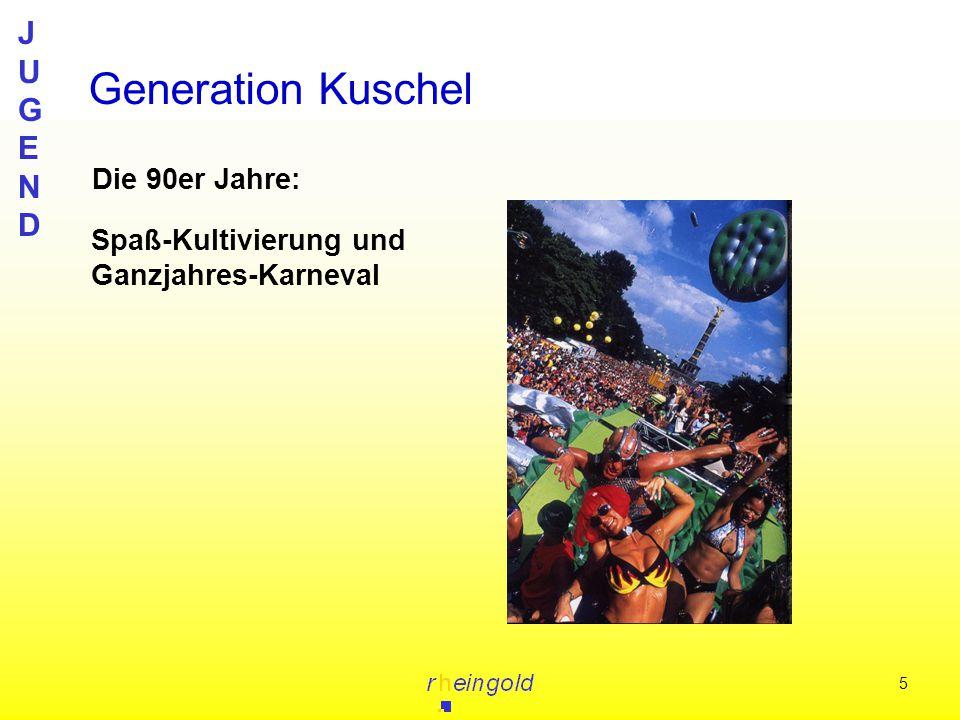 JUGENDJUGEND 5 Die 90er Jahre: Generation Kuschel Spaß-Kultivierung und Ganzjahres-Karneval