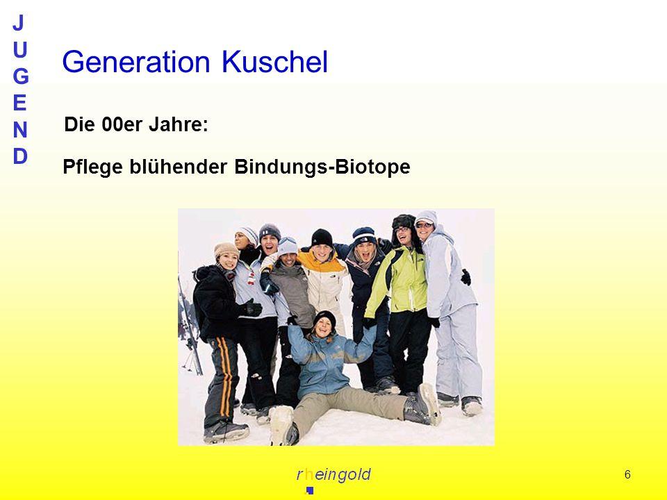 JUGENDJUGEND 6 Die 00er Jahre: Generation Kuschel Pflege blühender Bindungs-Biotope