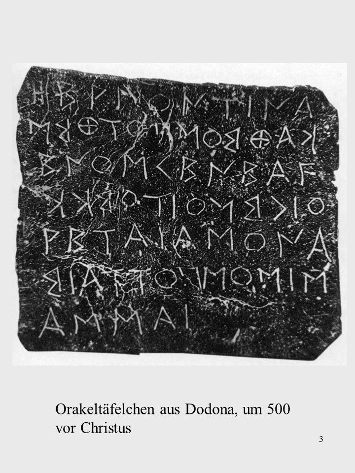 3 Orakeltäfelchen aus Dodona, um 500 vor Christus