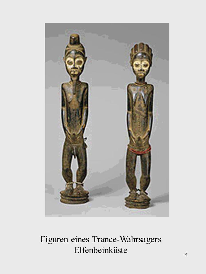 4 Figuren eines Trance-Wahrsagers Elfenbeinküste