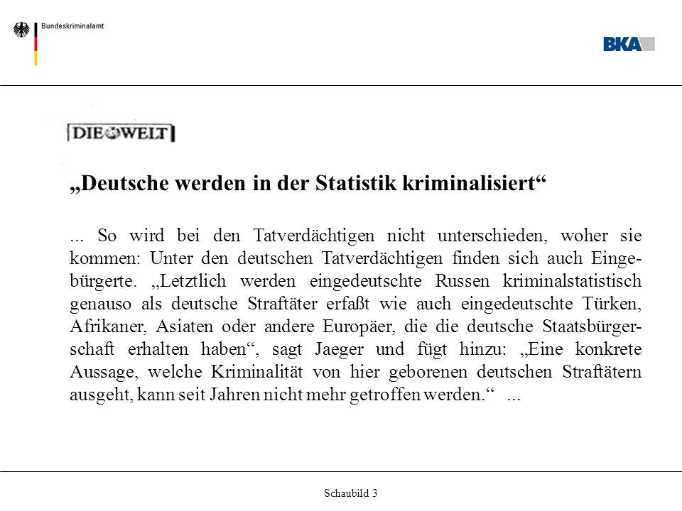 """Schaubild 3 """"Deutsche werden in der Statistik kriminalisiert ..."""