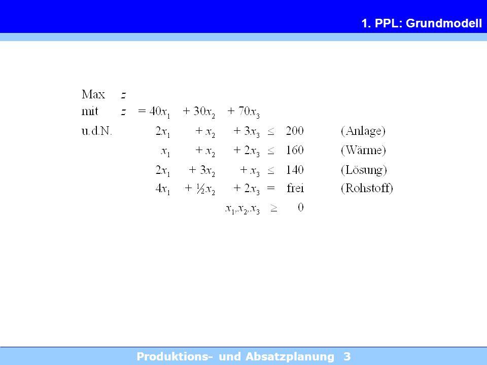 Produktions- und Absatzplanung 14 3.1 Mischungsproblem 1