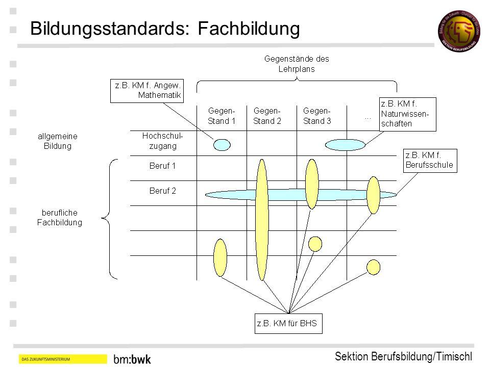 Sektion Berufsbildung/Timischl : : : : : : : Bildungsstandards: Fachbildung