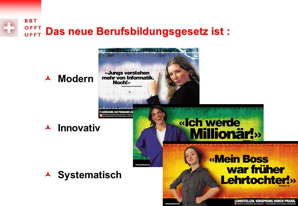 Das neue Berufsbildungsgesetz ist : Modern Innovativ Systematisch