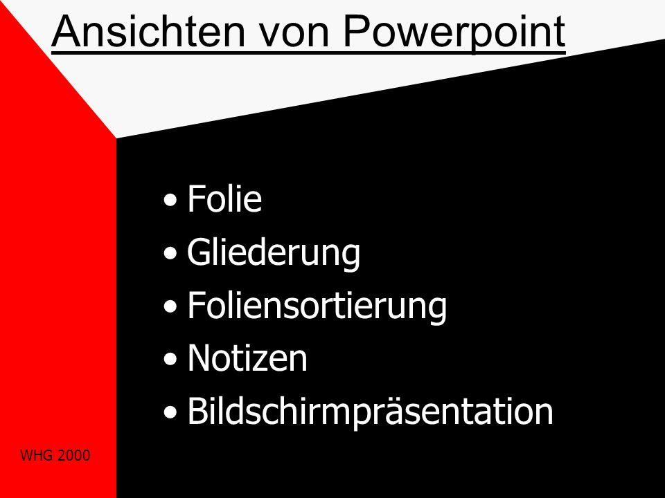 WHG 2000 Bildschirmaufbau Titelzeile Menüleiste Standard-Symbolleiste Formatsymbolleiste Lineal Arbeitsbereich Bildlaufleisten Zeichnen-Symbolleiste S