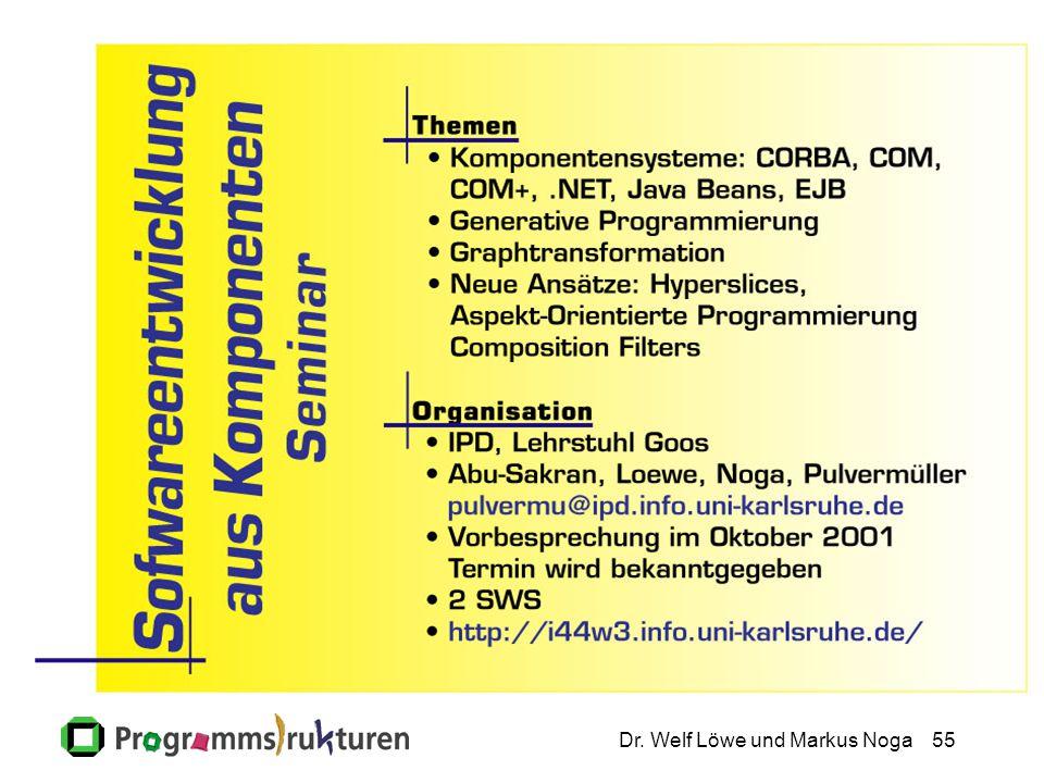 Dr. Welf Löwe und Markus Noga55