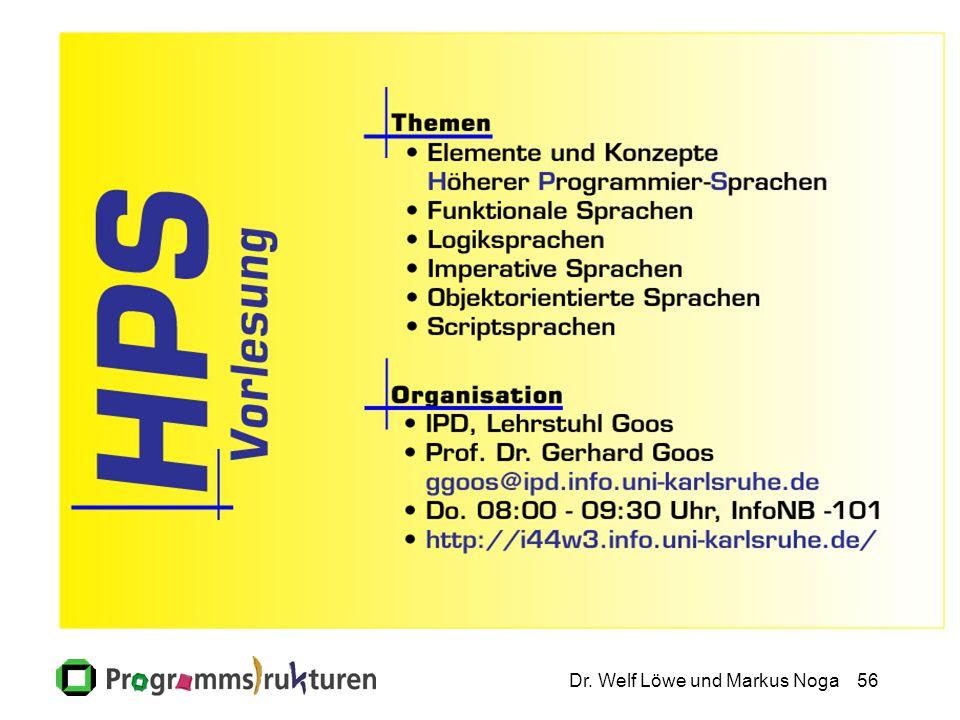 Dr. Welf Löwe und Markus Noga56