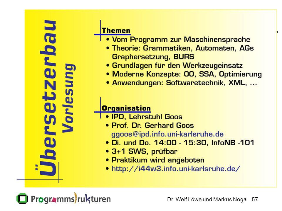 Dr. Welf Löwe und Markus Noga57