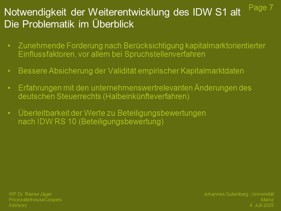 Part Die Problematik des IDW S1 alte Fassung 2