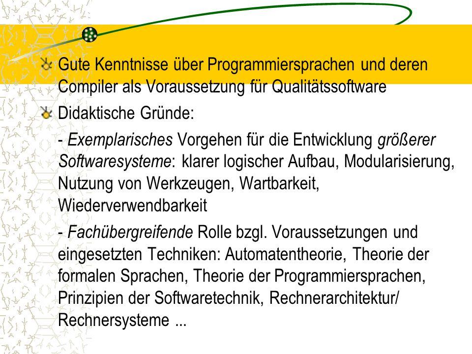 Parameterübergaben Referenzaufruf (call by reference): PROC del(VAR t: Elem;...);Befehlsfolgen: BEGIN...t :=...END;- Berechnung ...- Abspeicherung von  auf del(T,...); Platz von t Tt LDLD   DB aufrufende ProzedurDB von del