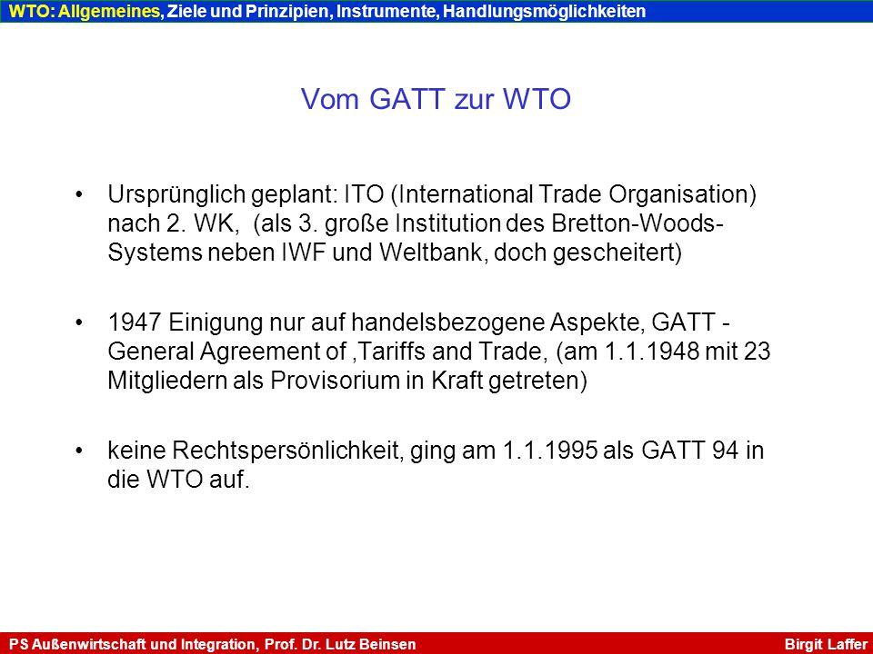 http://www.vwl.wiso.uni-goettingen.de/dokumente/Unterlagen_Sau_Aussenhandel_SS02.pdf http://www.vwl.wiso.uni-goettingen.de/dokumente/Unterlagen_Sau_Aussenhandel_SS02.pdf (Letzter Zugriff: Mai 04) http://www.politik.uni-kiel.de/WS20032004/Knelangen/kne11.pdf http://www.politik.uni-kiel.de/WS20032004/Knelangen/kne11.pdf (Letzter Zugriff: Mai 04) http://ig.cs.tu-berlin.de/w2003/eu1/eu1_011vl-wto.pdf http://ig.cs.tu-berlin.de/w2003/eu1/eu1_011vl-wto.pdf (Letzter Zugriff: Mai 04) http://people.freenet.de/msteinbrecher/Uni/HA%20IPO%20WS0203.pdf http://people.freenet.de/msteinbrecher/Uni/HA%20IPO%20WS0203.pdf (Letzter Zugriff: Mai 04) http://www.lsealumni.de/doc/Koopmann_WTO_20031122.pdf http://www.lsealumni.de/doc/Koopmann_WTO_20031122.pdf (Letzter Zugriff: Mai 04) http://www.uni-mainz.de/~marxj000/Trips.pdf http://www.uni-mainz.de/~marxj000/Trips.pdf (Letzter Zugriff: Mai 04) Literaturverzeichnis II WTO: Literaturangaben PS Außenwirtschaft und Integration, Prof.