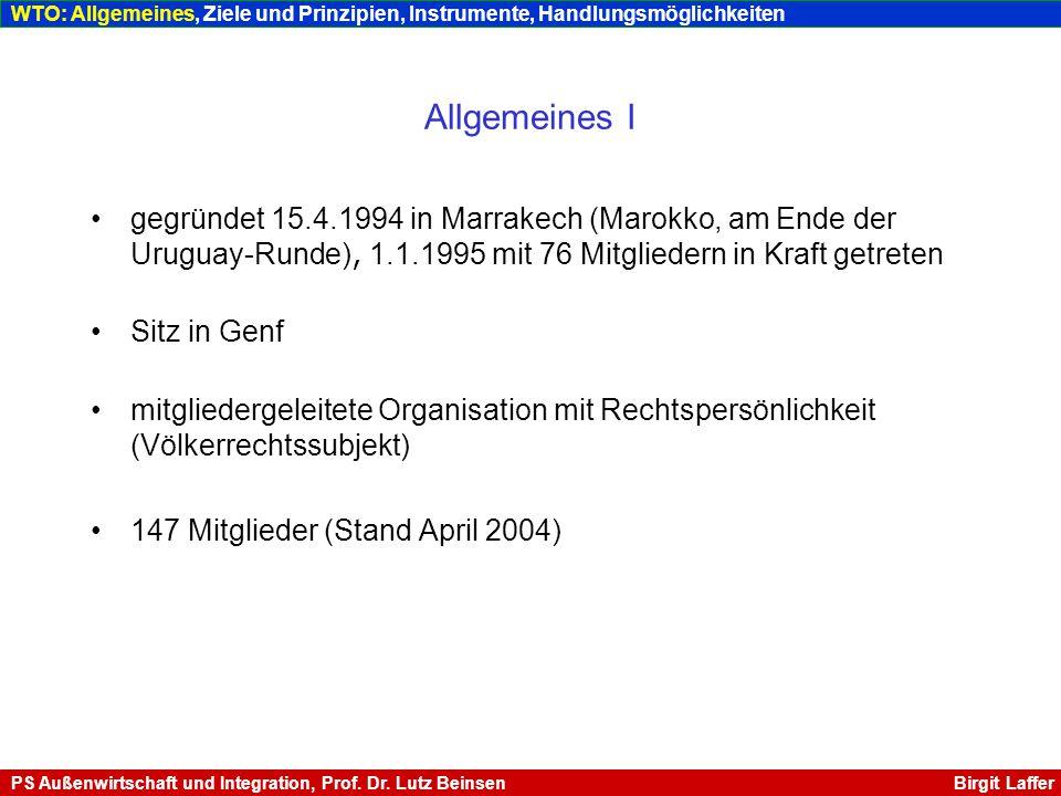 Allgemeines II Generaldirektor seit 2002: Supachai Panitchpakdi, Thailand Budget ca.