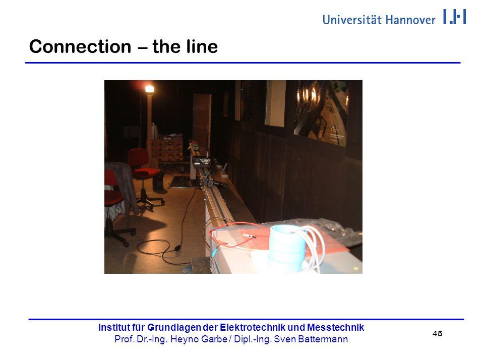 45 Institut für Grundlagen der Elektrotechnik und Messtechnik Prof. Dr.-Ing. Heyno Garbe / Dipl.-Ing. Sven Battermann Connection – the line