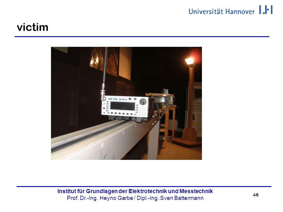 46 Institut für Grundlagen der Elektrotechnik und Messtechnik Prof. Dr.-Ing. Heyno Garbe / Dipl.-Ing. Sven Battermann victim