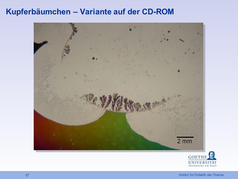 Institut für Didaktik der Chemie 17 Kupferbäumchen – Variante auf der CD-ROM 2 mm