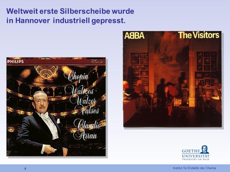 """Institut für Didaktik der Chemie 25 """"Anatomie der CD-ROM und CD-R CD-ROMCD-R Lackschicht Al Ag Farbstoff Polycarbonatträger Bildnachweis: ChiuZ, 2007, 41, S."""