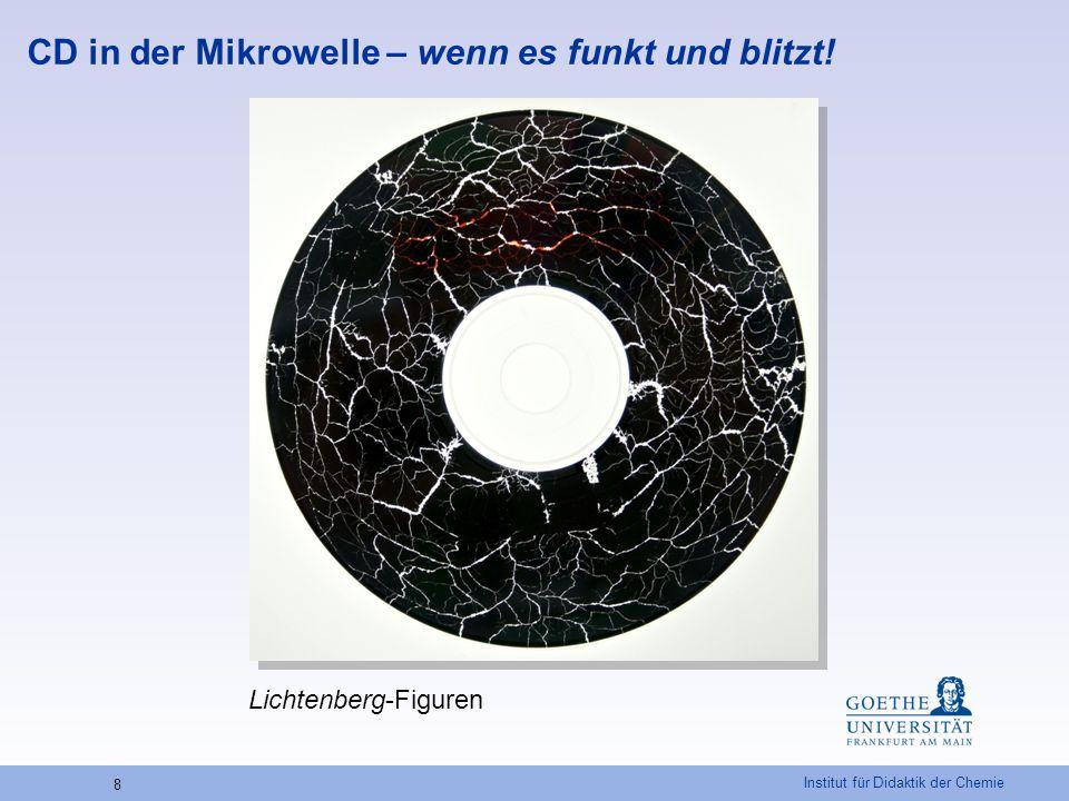 Institut für Didaktik der Chemie 8 CD in der Mikrowelle – wenn es funkt und blitzt! Lichtenberg-Figuren