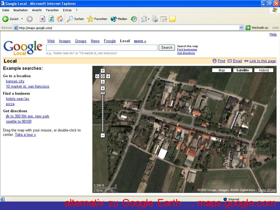 alternativ zu Google Earth … maps.google.com